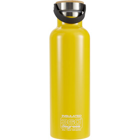 360° degrees Vacuum Insulated Juomapullo 750ml, yellow